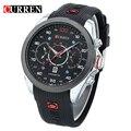 Curren mens relógios top marca de luxo relogio masculino homens de pulso de quartzo esportes dos homens curren relógios 8166