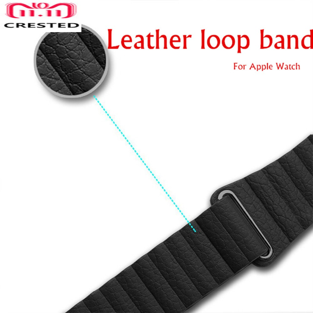 CRESTED Leather Loop For Apple Watch band strap 42mm/38mm iwatch series 3 2 1 wrist bands bracelet belt Genuine leather straps crested crazy horse strap for apple watch band 42mm 38mm iwatch series 3 2 1 leather straps wrist bands watchband bracelet belt