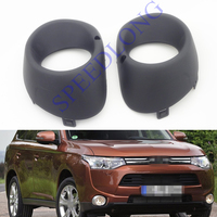 2 Pcs Pair RH And LH Front Fog Light Lamp Cover For Mitsubishi Outlander 2013 2015