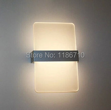 Modern wall lamp is contracted fashion creative square LED wall lamp contains LED bulb is free shipping