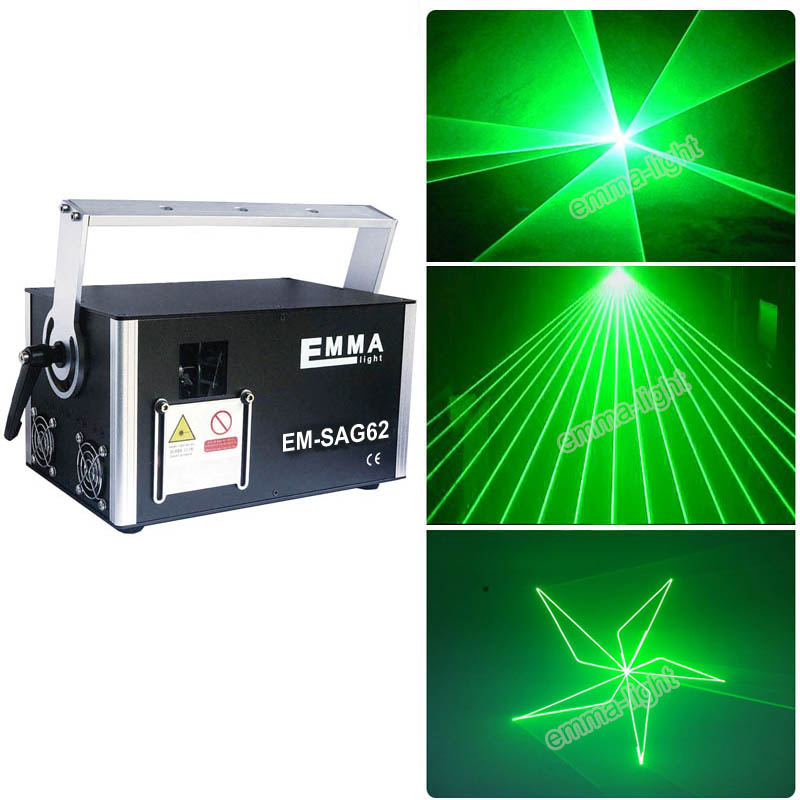 1 W Groene Laser 3d Animatie Scanner Projector Ilda Dmx Dance Bar Xmas Party Disco Dj Effect Licht Podium Verlichting Show Systeem