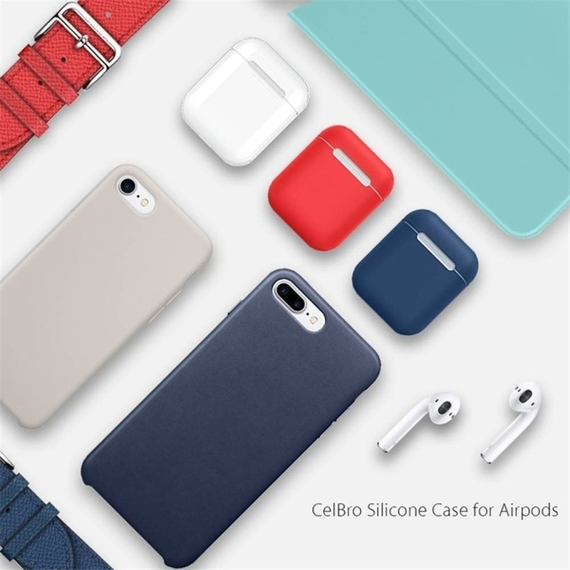 Image 5 - For AirPods Silicone Case Cover Protective Skin for Apple Airpod Covers Case headphone case Airpods Earpod Earpods Silicone-in Earphone Accessories from Consumer Electronics