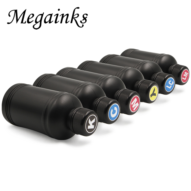 6 PCS 250ML Soft and Hard LED UV Ink for DX4 DX5 DX6 DX7 Printhead for Roland for Mimaki Mutoh Desktop or Flatbed Inkjet Printer 400ml set digital textile ink for roland for mimaki for mutoh for konica dx3 dx4 dx5 dx6 dx7 dtg flatbed printer ink kit