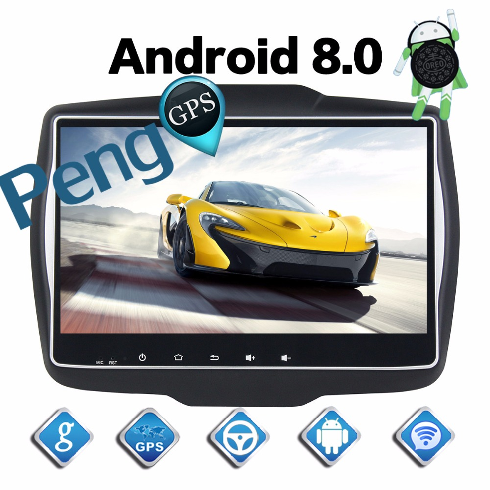 4G 32G Octa Core 2 Din Stereo Android 8 0 Car Radio for Jeep Renegade 2016