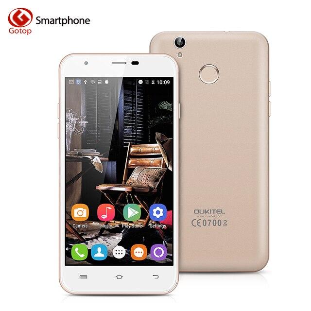 Оригинал OUKITEL U7 Плюс Android 6.0 Смартфон 5.5 дюймов MTK6737 Quad-Core мобильный телефон 2 Г RAM 16 Г ROM 13.0MP 4 Г LTE Сотовый Телефон