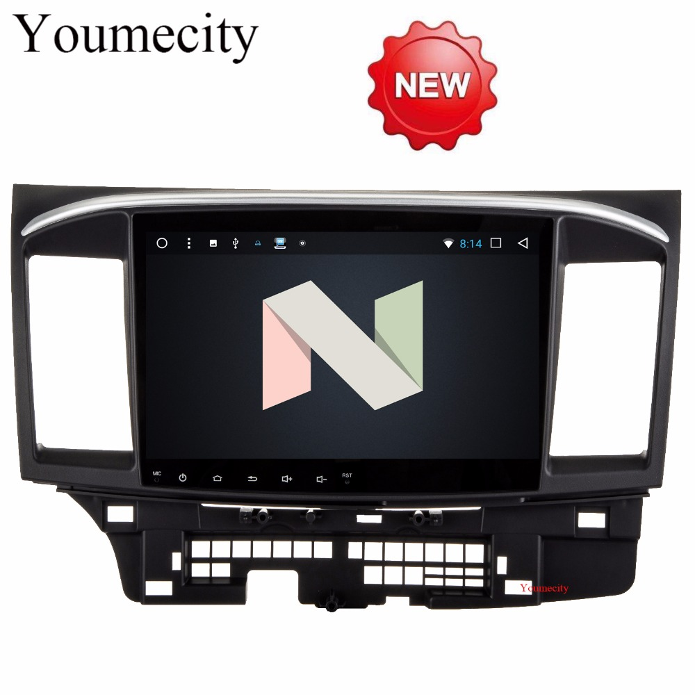 Youmecity 2G RAM Android 7.1 2 DIN Car DVD GPS for MITSUBISHI LANCER 2008-2016 headunit video player wifi Radio video Stereo