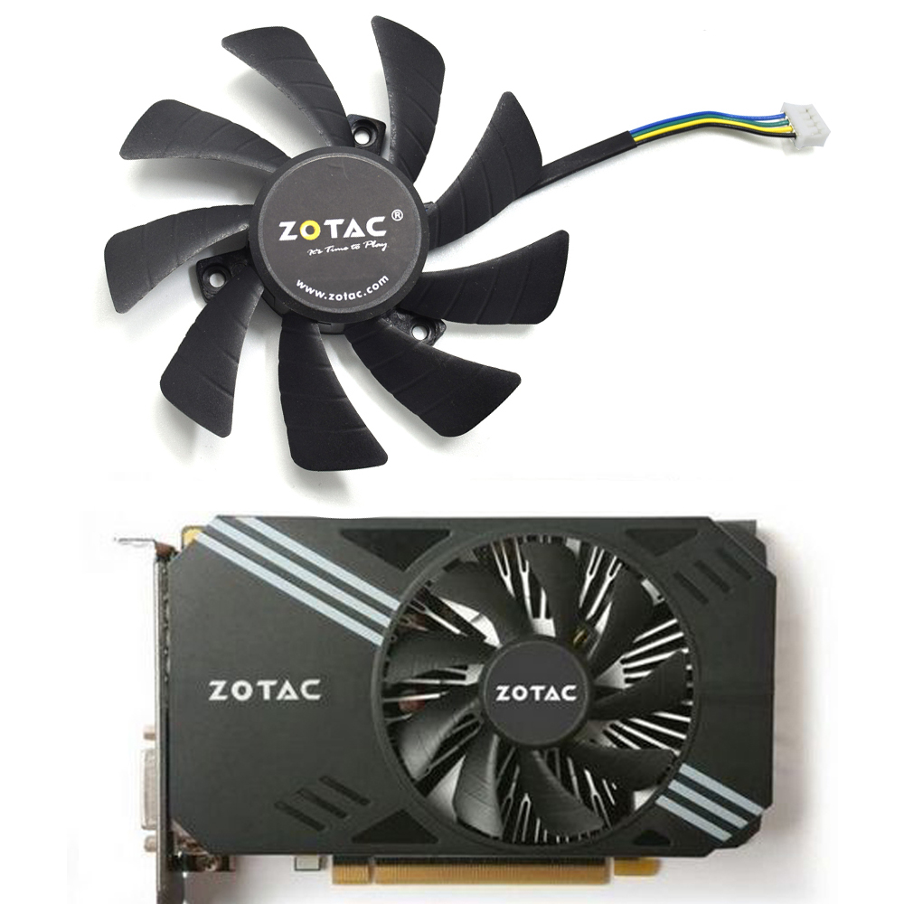 85MM T129215SH T129215SU DC12V 0.30AMP 4PIN Cooling Fan For Zotac GeForce N1060IXOC 6GD GTX 1060 3GB Mini ITX Graphic Card
