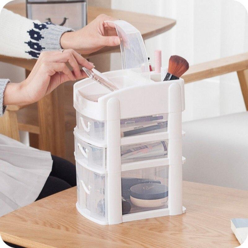 Макияж Организатор Box щетки ювелирные изделия организатор случай ювелирных изделий косметическая хранения Box