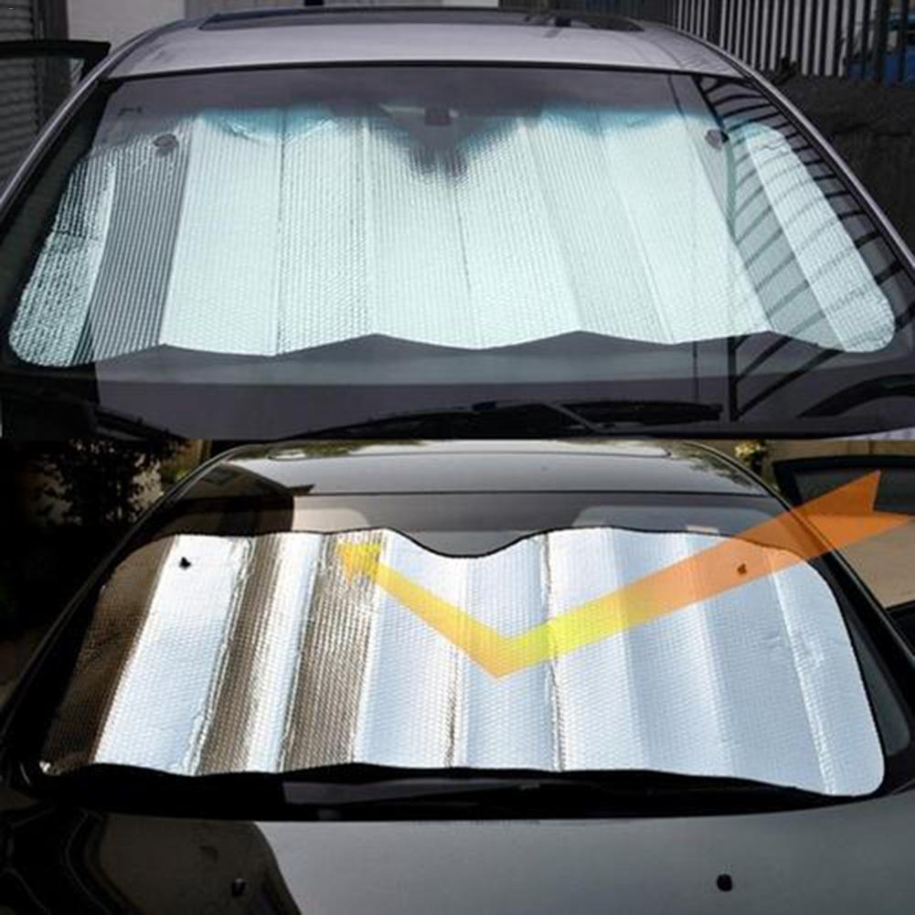 1pc 140 X 70Cm Front Car Sunshade Cover Car Windshield Standard Sun Shade Keeps Vehicle Cool-UV Ray Protector Sunshades Styling title=