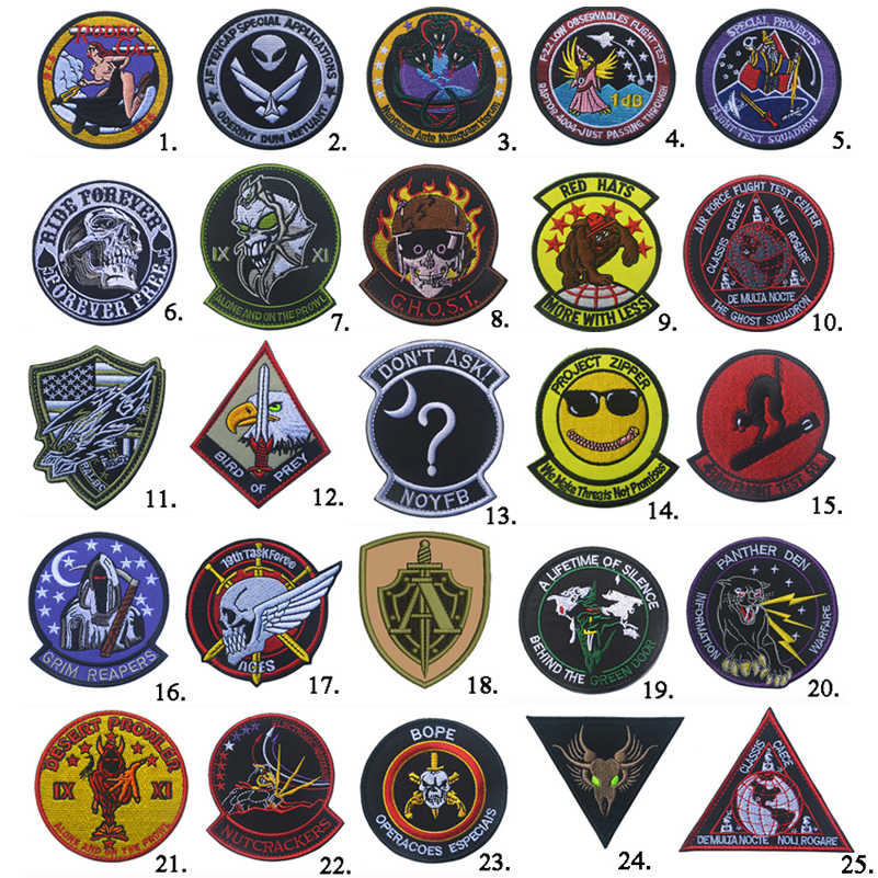 Zona USAF Air Force Black Ops 51 Fantasma Squadron Elicottero Dell'aviazione Patch New hook Loop Tactical Morale Militare Patch No.1 15