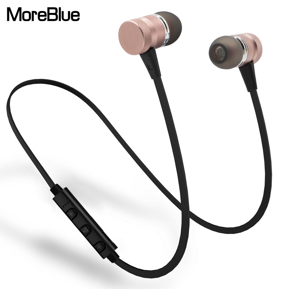 moreblue m98 wireless bluetooth earphones sport running headphones metal magnetic headset stereo. Black Bedroom Furniture Sets. Home Design Ideas