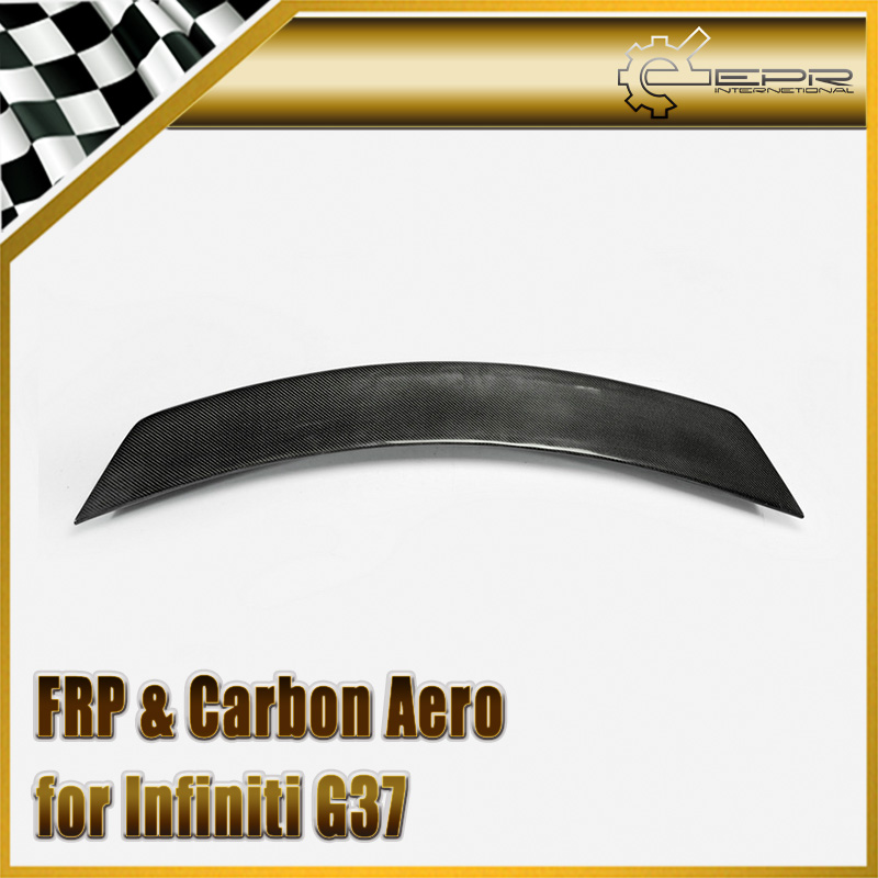 Car Styling Per Infiniti G37 LB Stile Fibra di Carbonio Spoiler Posteriore lucido Fibra Bagagliaio Ala Lip Auto Cofano Body Kit Da Corsa Trim