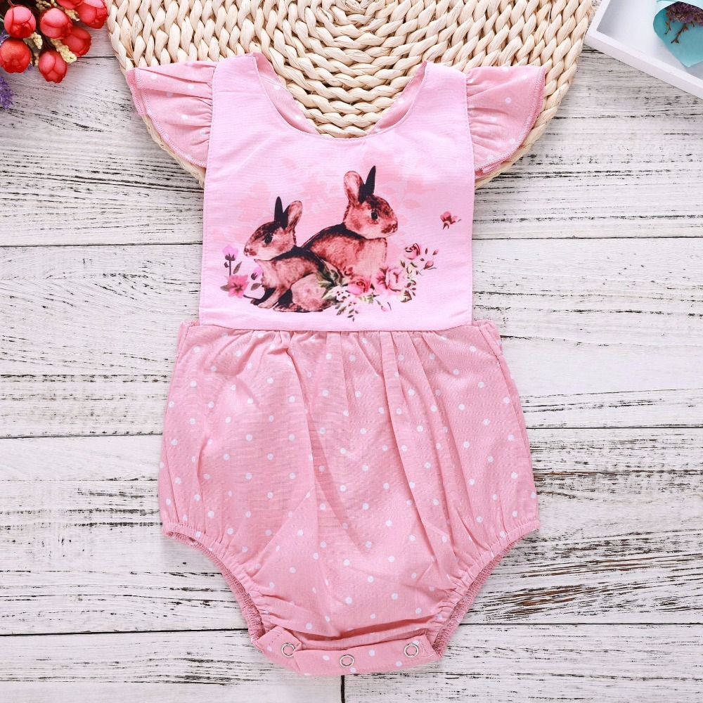 12 Month Baby Girl Clothes Baby Infant Girl Bubble Romper Onesie Summer Romper Baby Girl Jumpsuit Polka Dot Toddler Bathing Suit