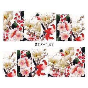 Image 4 - 100 levhalar karışık çiçekler karikatür Nail Art su transferi çıkartmalar tam kapak manikür İpuçları dekor çıkartması güzellik araçları BESTZ134 233