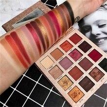 Новое поступление очаровательные тени для век 16 Цвет Палетка для макияжа палитры матовый Shimmer пигментированные тени Косметическая пудра Бесплатная доставка