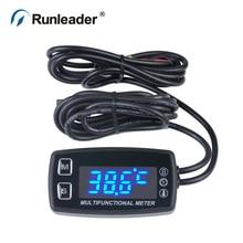 RL-HM035LT LED Tach/Stunde Meter thermometer temperatur-messgerät für benzin meeresaußenbordmotor motorschirm trimmer grubber pinne