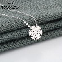 Женское ожерелье с подвеской в виде снежинки Todorova, украшение в виде цветка, подарок для влюбленных, 2018