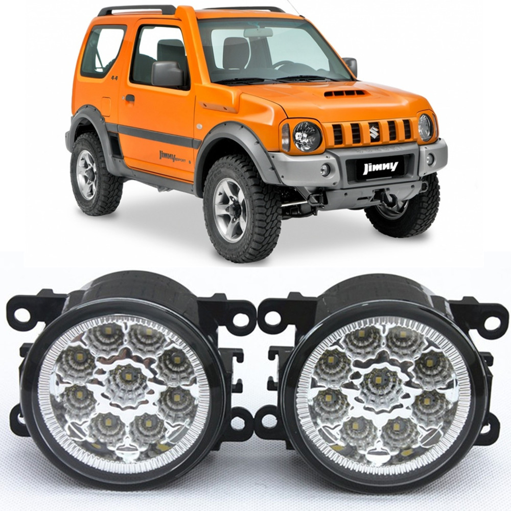 For SUZUKI  JIMNY FJ  Closed Off-Road Vehicle  1998-2014 Car-Styling Led Light-Emitting Diodes DRL Fog lamps 1set  for suzuki jimny fj closed off road vehicle 1998 2013 10w high power high brightness led set lights lens fog lamps
