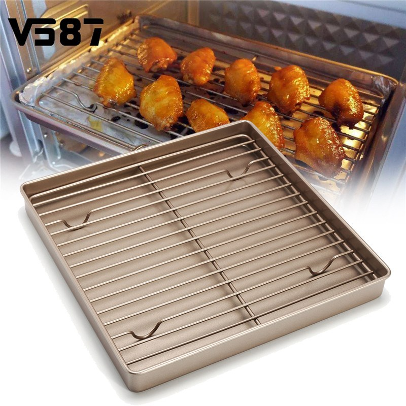 11 Square Golden Kitchen Cooling Rack Bread Cookies