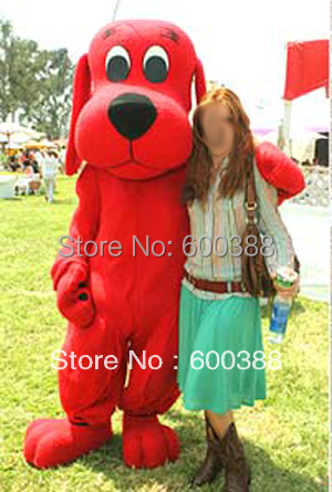 new clifford the big red dog costume adult plush mascot costume cartoon character costumes for halloween - Clifford The Big Red Dog Halloween Costume