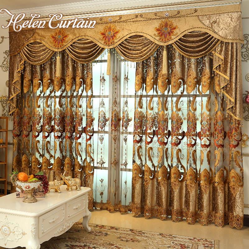 Helen Curtain Retro Luxury Embroidered Curtains European ...