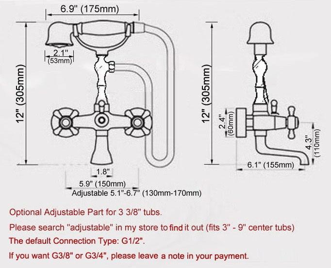 Полированный хром латунь двойной крест ручки стена крепление коготь ножка ванная ванна смеситель смеситель кран с душ ручной душ mtf857