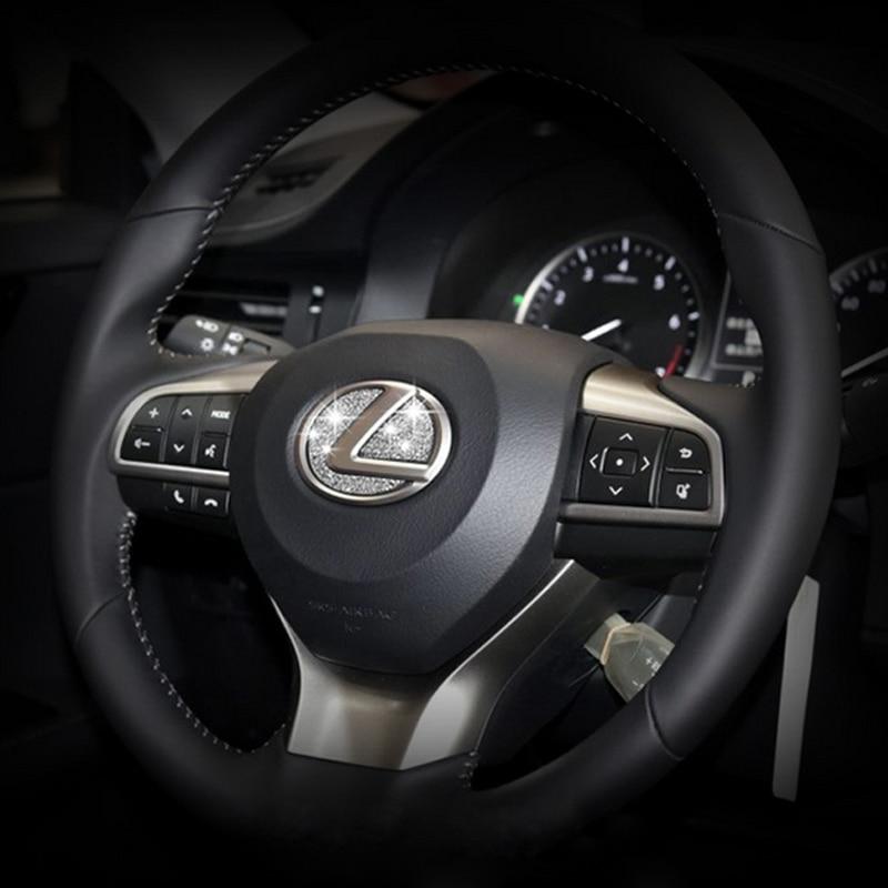 DSYCAR Zinc alloy Car teering wheel stickers logo Emblem Badge Decals Car-styling Modification for Lexus es/es200 nx/nx200 rx hudora big wheel rx 205