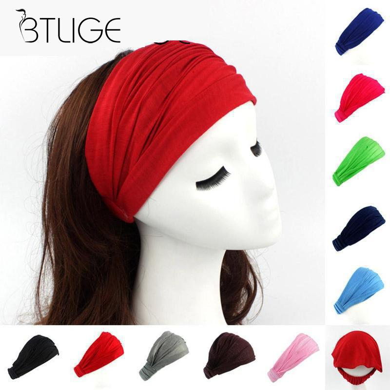 Ladies Cotton Hairband Bandage Head Band Headband Turban   Headwear   Wrap Neck Head Scarf Cap 2 In 1 Bandana Women Headwrap