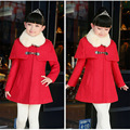Children's Wear Girl's New Korean Cloth Child Upset Double-breasted Coat Kids Clothing Red Pink