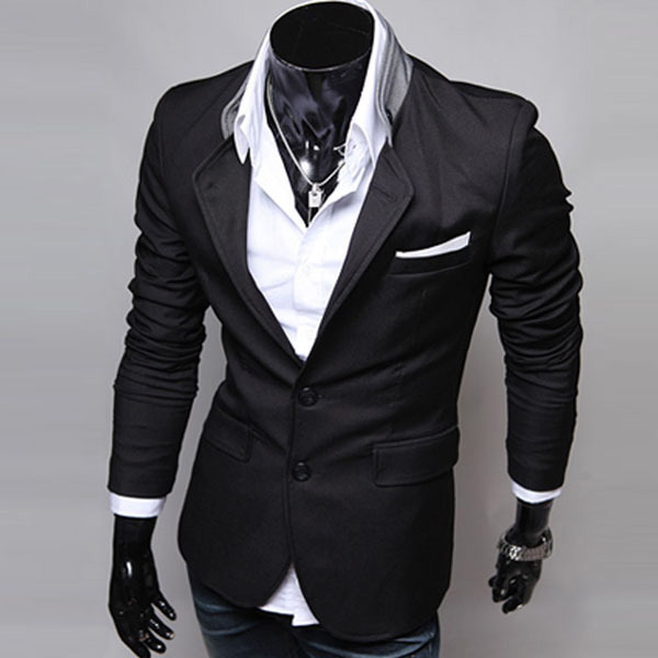 67e36b55aa101 Mens Casual Clothes Slim Fit Stylish Suit Blazer Coats Jackets en Blazers  de La ropa de los hombres en AliExpress.com