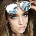 Nuevo 2016 Piloto gafas de Sol Mujer Marca diseño Puntos dom mujeres hombres UV400 shades Gafas masculino Fresco gafas de sol Al Aire Libre gafas de sol