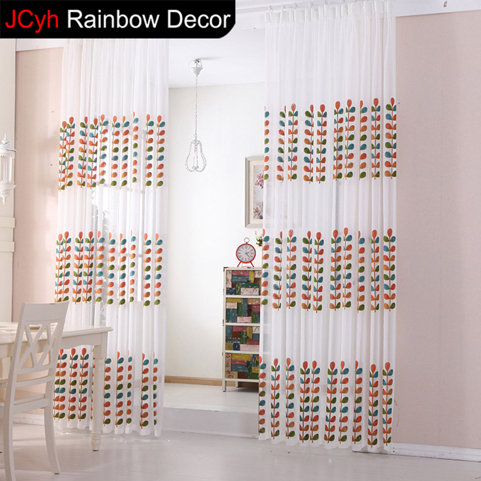 kitchen curtain for living room Embroidered Lace blinds sheer ...