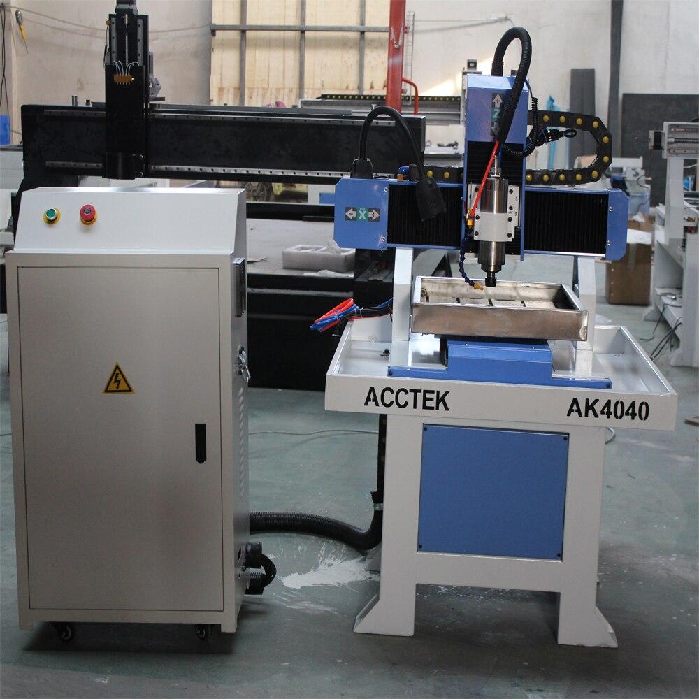 AccTek cnc machine 3030 4040 6060 table moving carving 4 axis machine/mini cnc 3d router stone  high precision table moving 4 axis cnc mini router 3 axis mini cnc router metal engraving machine 3030 4040 6060