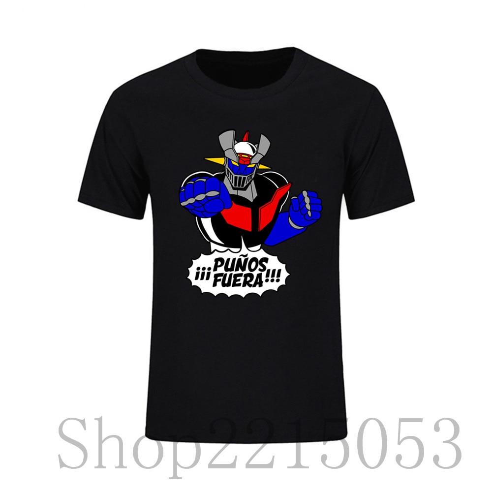 Comfort Hombre Mazinger Z Camiseta T Shirt Man Pre-cotton Funny Tee TShirts Create Short Sleeve Male T-Shirt camisa termica 6xl