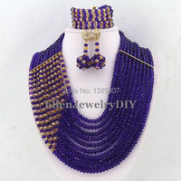 Beautiful Fashion Wedding Party: Crystal Necklace Earring Bracelet Set WS4070