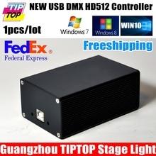 Por Fedex HD512 Luz de la Etapa de DMX USB 512 Dongle PC/Tarjeta SD caja de fuente de Alimentación USB de 512 Canales De Salida DMX Controlador SD512III TIPTOP