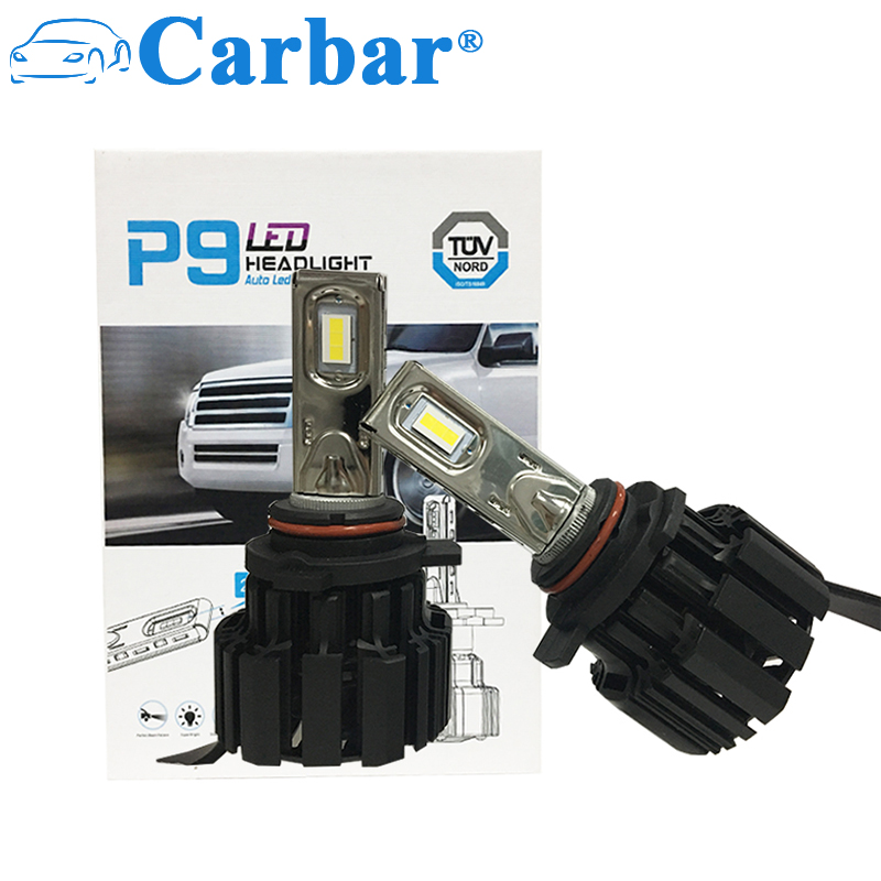Carbar# 9012/HIR2 LED Headlight Bulbs Conversion Kit High or Low beam Light Bulbs (9012 HIR2)- 4000K 5000K 6000K LED Headlight 9012 hir2 led headlight bulbs 50w 8000lm fanless auto headlamp conversion kit for toyota chevrolet cadillac buick gmc ford jeep