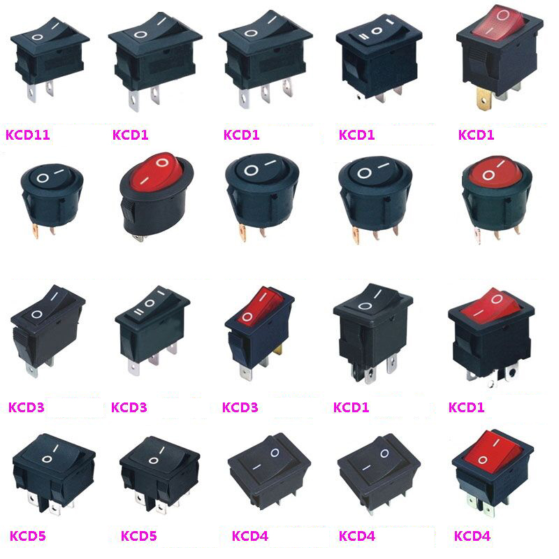 4 BBT Brand Blue LED Lighted 2 Position On//Off 20 amp 12 volt Toggle Switches