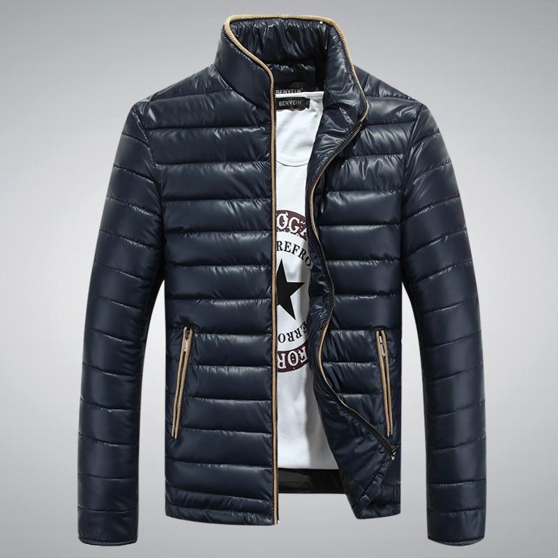 ФОТО New 2017  Autumn  Winter Jacket Men Warm cotton Jacket Men Outerwear Zippers cotton Solid  Coat QW078