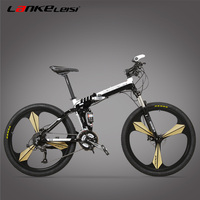 XT660G 26 Inch Folding Bicycle 21 24 27 Speed Aluminum Alloy Folding Mountain Bike Suspension Fork