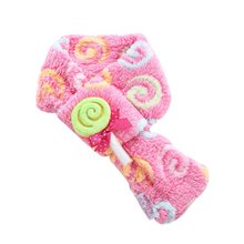 Lovely Warm Fuzzy Dog Candy Soft Block Scarf Pet Puppy Holiday Neck Accessory pe
