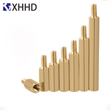 M2 Hex brass Male Female Standoff Mount Hexagon Threaded Pillar PCB Computer PC Motherboard Standoff Spacer Hollow Bolt Screw m2 hex brass male female standoff pillar board stud metric hexagon threaded pcb motherboard spacer hollow bolt screw long nut