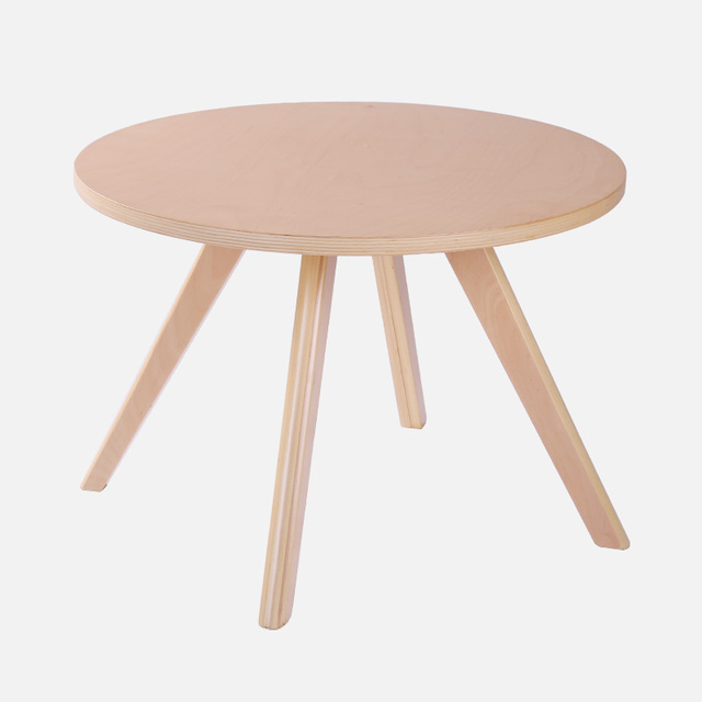 Contemporary Round Coffee Tea Table Wood Living Room Furniture