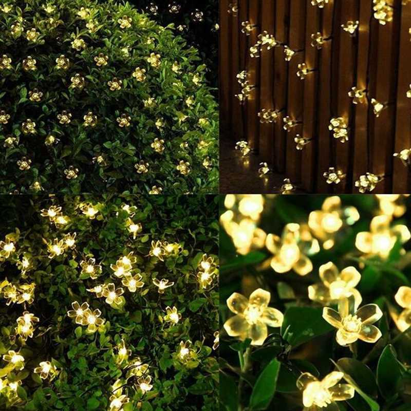 Solar String Lights 7m 50led Flower Garlands Waterproof Outdoor Decorative Lighting Fariy Christmas Lights For Garden Yard Party