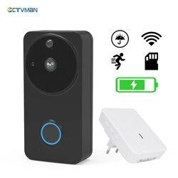 CTVMAN Vídeo Campainha Do Telefone Da Porta de Vídeo Sem Fio Ao Ar Livre HD 720 P PIR Alarme de Segurança Eletrônica Wi-fi Vídeo Porteiro Interfone