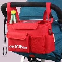 Cochecito de bebé mamá cochecito de niño del carro organizador de almacenamiento de poliéster para botella del pañal del bebé teléfono de juguete