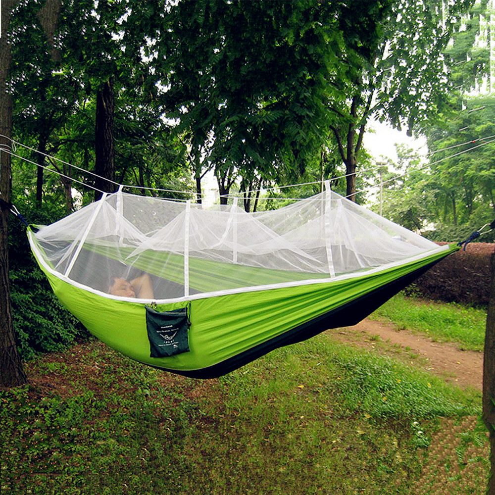 Portable High Strength Parachute Fabric Hammock Garden Outdoor - Perabot