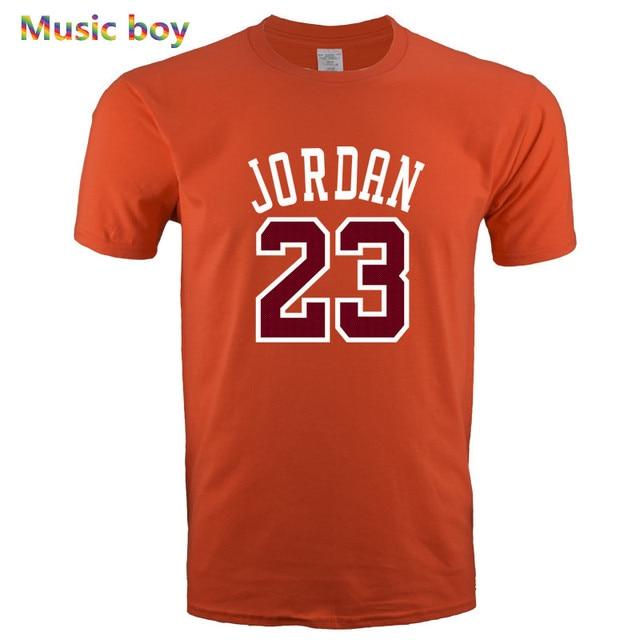 4be142d1e7 2019 New Mens JORDAN 23 printing T Shirt Brand Clothing Hip Hop Letter Print  Men T