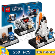 258pcs Ideas Creator Women of NASA Space Telescope Shuttle Challenger 35002 Model Building Blocks Brick Toy Compatible With Lego