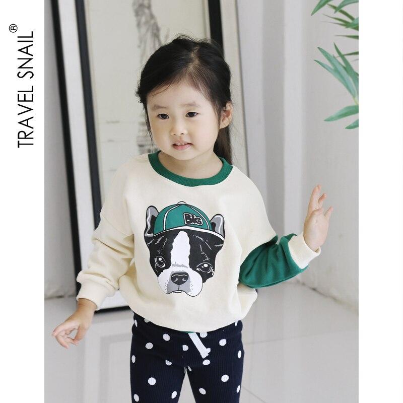 2-7 Yrs Girls T-shirts Cotton Girls Tops Kids T-shirts for Girls Clothes tshirt 2018 Autumn Fashion Girls Cartoon Blouse